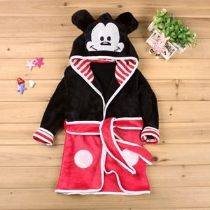 BOYS MICKEY MOUSE ROBE BLACK / RED - NWT!